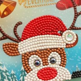Julkort Rudolf 15x15cm - Julkort rudolf 15x15cm