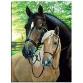 Hästar, fyrkant, 20x25cm