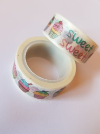 Decoupage tejp cupcake 15mm - Decoupage tejp cupcake 15mm