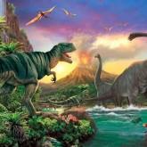 Dinosaurier, fyrkant 60x50cm