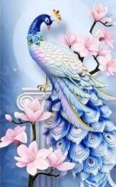 Fågel blå, fyrkant 40x60cm - Fågel blå, fyrkant 40x60cm