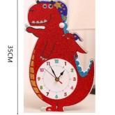 Klocka 31x21cm Dino