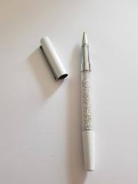 Duttpenna glitter med tyngd, vit - Duttpenna glitter vit