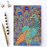Notebook 64 sidor, påfågel färgglad