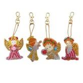 Nyckelring 4 pack änglar