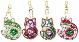 Nyckelring 4 pack katter bling - Nyckelring 4 pack katter bling
