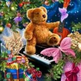 Nallebjörn julklappar, fyrkant 50x60cm