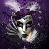 Mask lila, fyrkant 40x50cm