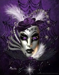 Mask lila, fyrkant 40x50cm - Mask lila, fyrkant 40x50cm