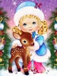 Julprinsessan, fyrkant 50x60cm - Julprinsessan fyrkant 50x60cm
