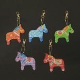 Nyckelring 5 pack dalahäst