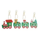 Nyckelring 4 pack jultåg