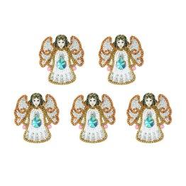 Nyckelring 5 pack vita änglar - Nyckelring 5 pack vita änglar