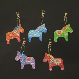 Nyckelring 5 pack dalahäst - Nyckelring 5 pack dalahäst