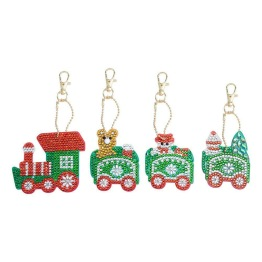 Nyckelring 4 pack jultåg - Nyckelring 4 pack jultåg
