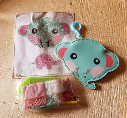 Elefant, mynt och nyckelväska - Elefant väska