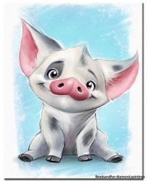 Glada grisen, rund 30x40cm - Glada grisen, rund 30x40cm