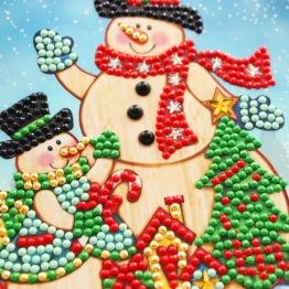 Julkort snögubbar 15x15cm - Julkort snögubbar