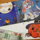 Halloweenkort, pirat hund 15cmx15cm