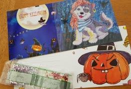 Halloweenkort, pirat hund 15cmx15cm - Halloweenkort pirat hund