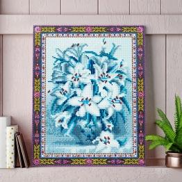 Blommor vit blå - Blommor vit blå