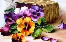 Korg blomning, fyrkant 70x50cm - Korg blomning 70x50cm