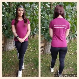 T-shirt dam, välj din storlek - Vinröd storlek S