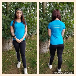 T-shirt dam, välj din storlek - T-shirt Azure storlek S