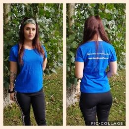 T-shirt dam, välj din storlek - T-shirt blå storlek L