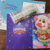 Julkort gris