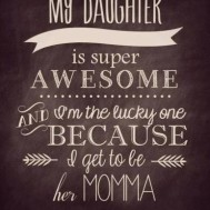 Till min dotter, fyrkant 50x70cm