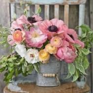 Blomster hink, fyrkant 50x60cm