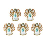 Nyckelring 5 pack vita änglar