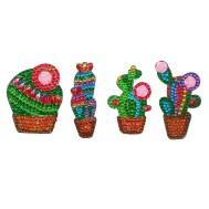Nyckelring 4 pack kaktus