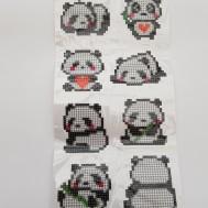 Stickers panda 8 pack