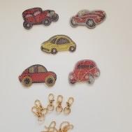 Nyckelring 5 pack vintage bilar