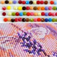 Diamant pärlor RUNDA liten påse med ca 200 stk