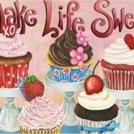 Cupcakes, fyrkant 60x50cm