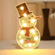 LED lampa Snögubbe