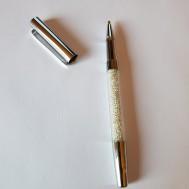 Duttpenna glitter med tyngd, silver