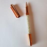 Duttpenna glitter med tyngd, rosé guld