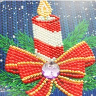 Julkort stearinljus 15x15cm