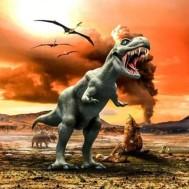 Dinosaurie, fyrkant 60x60cm
