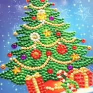 Julkort julgran 15x15cm