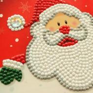 Julkort tomte 15x15cm