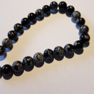 Natural Snowflake Obsidian 8mm