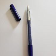 Duttpenna glitter med tyngd, mörkblå