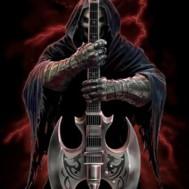 Leveranstid 1,5v. Death by guitarr, fyrkant, 60x80cm