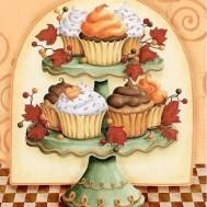 Leveranstid 1,5v. Cupcakes, fyrkant, 50x60cm
