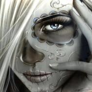 Leveranstid 1,5v - Ghost girl, fyrkant, 50x50cm